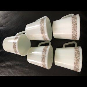 Vintage Pyrex Mugs 5 pcs